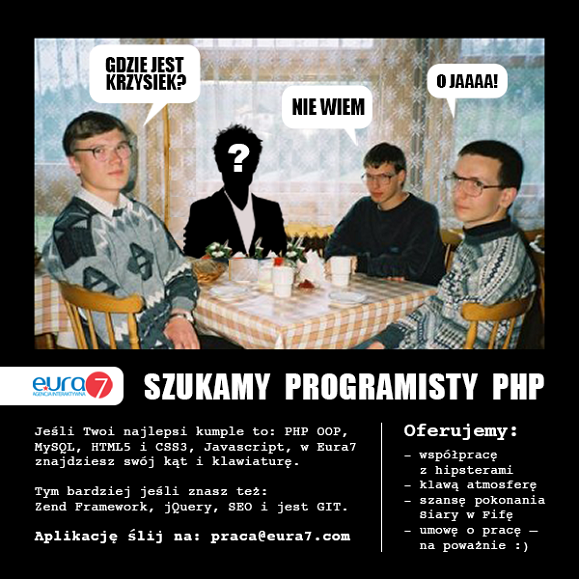 programista poszukiwany