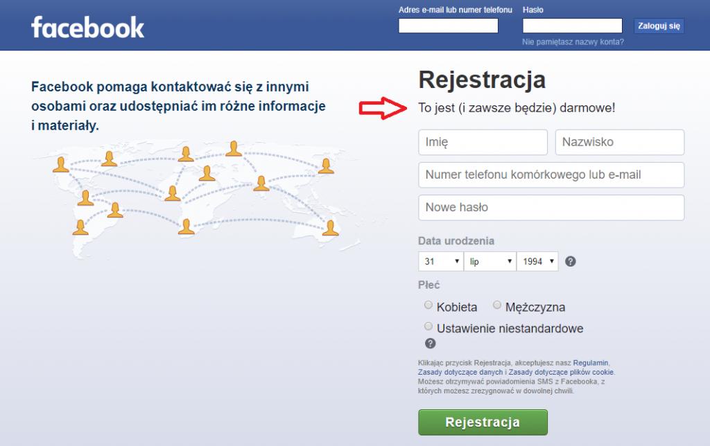 nowy interfejs logowania facebooka